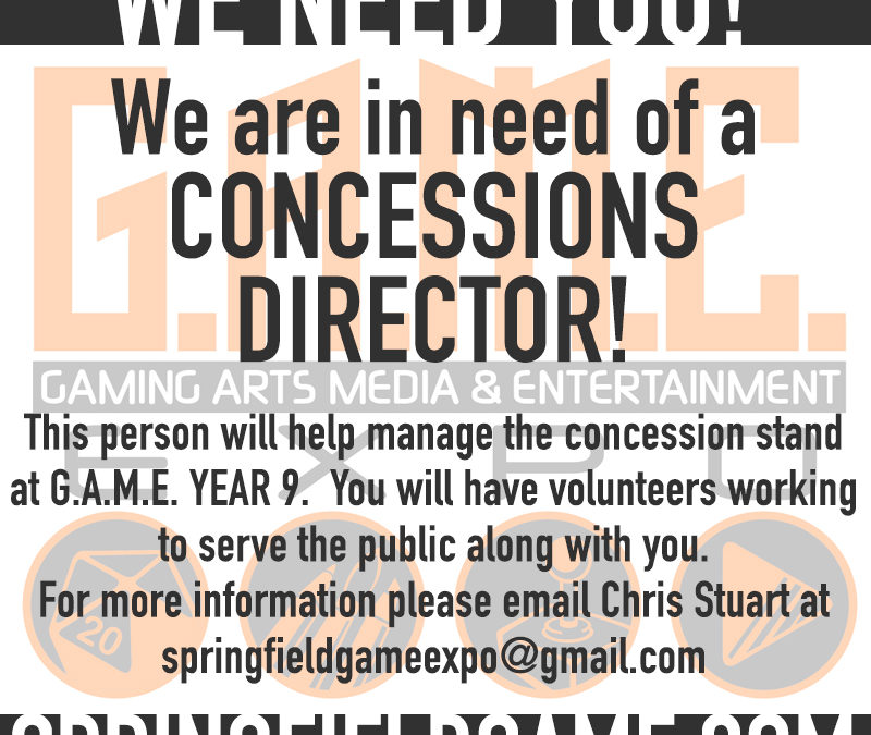CONCESSIONS DIRECTOR POSITION