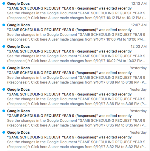LOTS OF GAME REQUEST COMING IN …