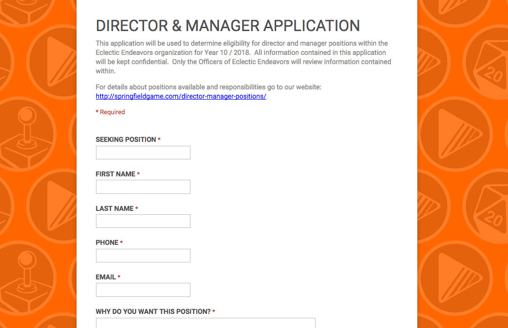 DIRECTOR & MANAGER POSITIONS