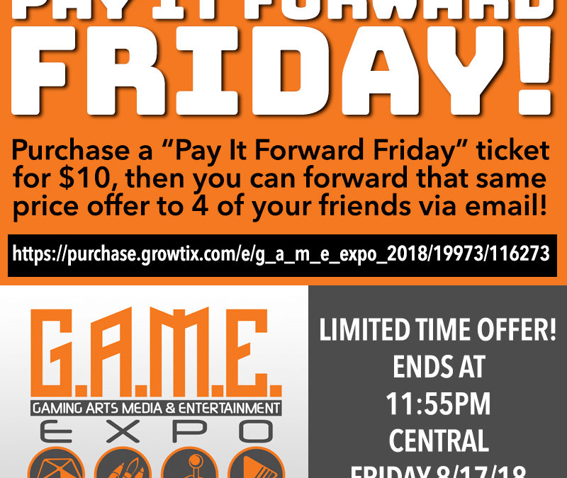 """PAY IT FORWARD"" FRIDAY — only a few hours left!"