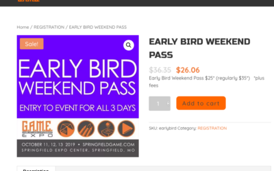 EARLY BIRD PRICE EXTENDED!